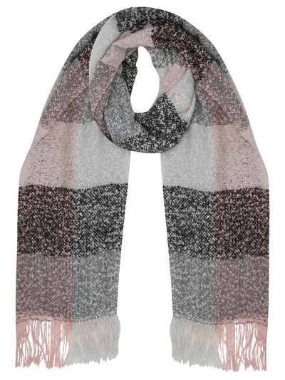 Boucle block check scarf