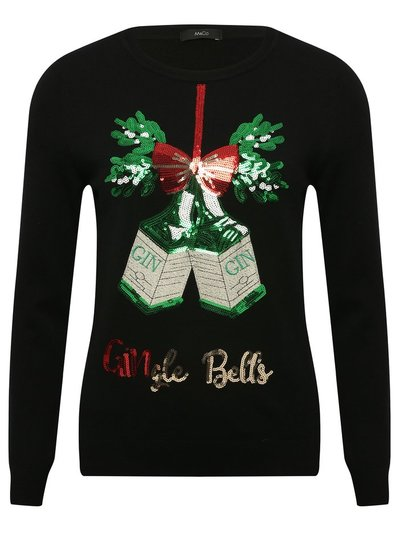 Gingle bells Christmas sequin jumper