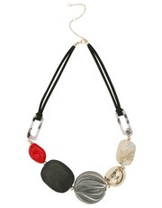 Muse colourblock pebble necklace