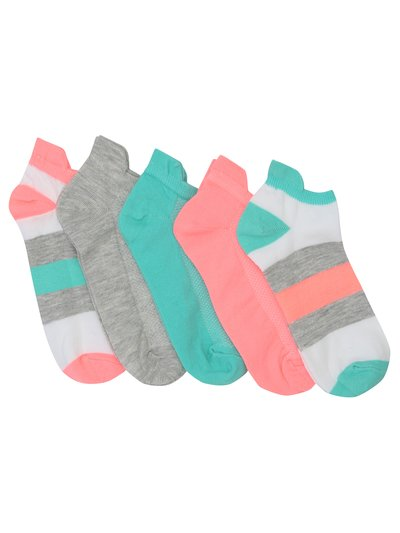 Teens' plain and stripe trainer socks three pack