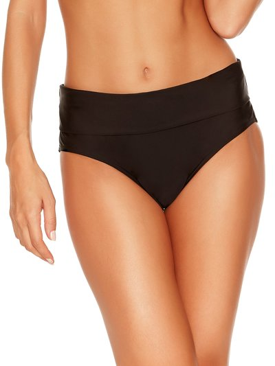 Plain black roll over bikini bottoms