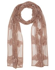 Mesh embroidered scarf