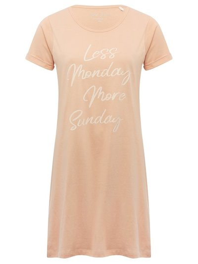 Pink slogan nightdress