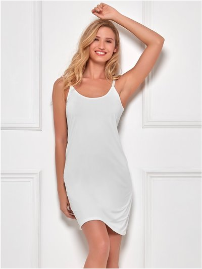 Microfibre full slip dress