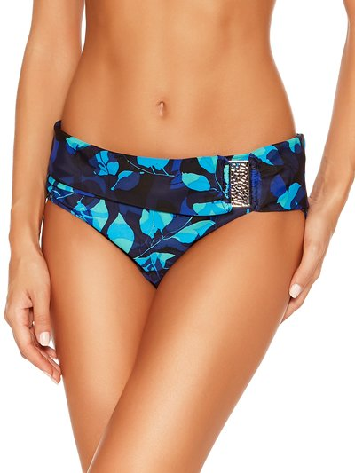 Blue leaves roll over bikini bottoms