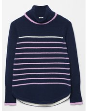 Khost Clothing Striped roll neck jumper