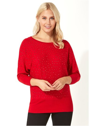 Roman Originals embellished hotfix batwing jumper