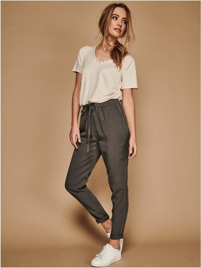 Sonder Studio side stripe tencel joggers