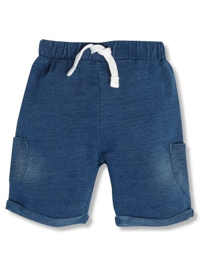 Denim jersey shorts (newborn-18mths)