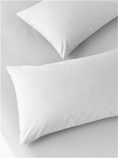 Pure cotton grey pillowcases two pack
