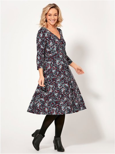 Spirit ditsy print midi dress