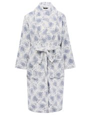 Rose swirl wrap dressing gown