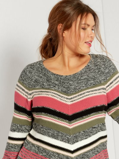 Plus chevron stripe jumper