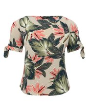 Petite tropical print top
