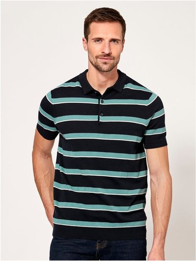 Mint stripe polo shirt