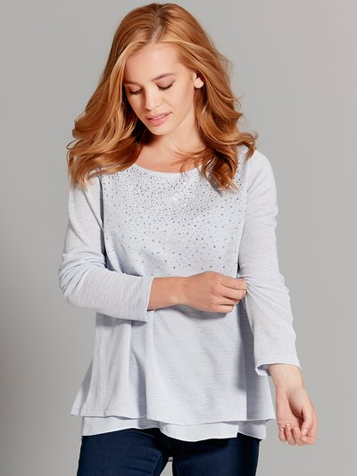 Petite double layer embellished top