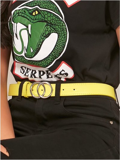 Teen neon double ring belt