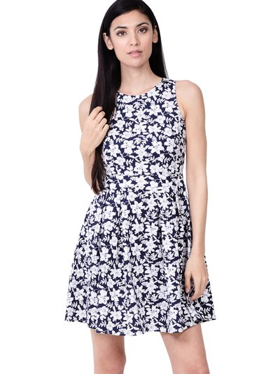 Izabel floral high neck dress