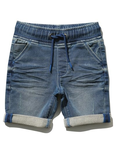 Jersey denim shorts