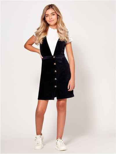Teen cord pinafore dress