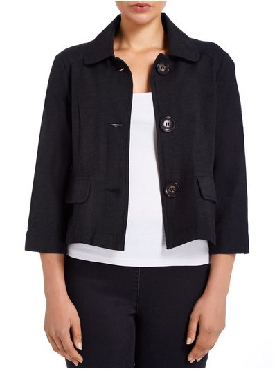 VIZ-A-VIZ collared cropped jacket