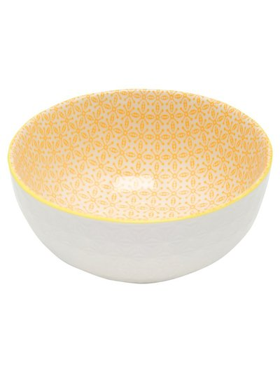 Yellow patterned bowl