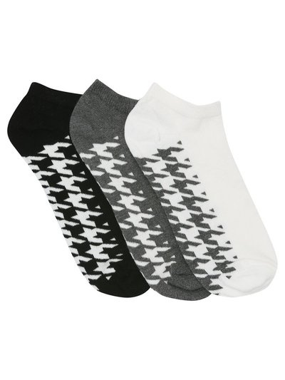 Dogtooth trainer socks three pack