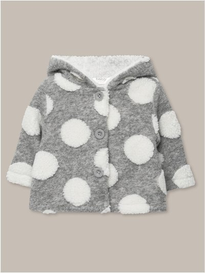 Spotted fleece jacket (newborn-18mths)