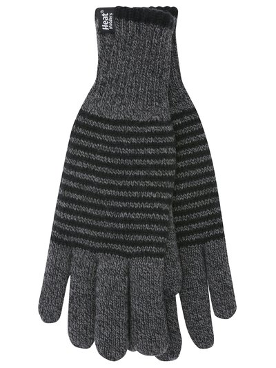 Heat Holders striped gloves