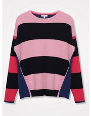 Khost Clothing button trim stripe jumper