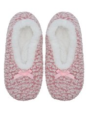 Pink fluffy slippers