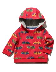 Car print hooded sweater