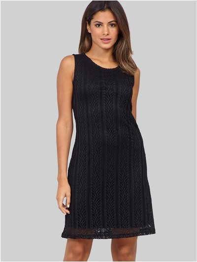 Izabel aztec lace shift dress