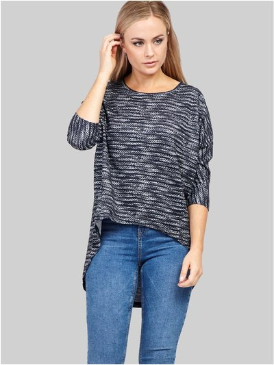 Izabel knitted high low top