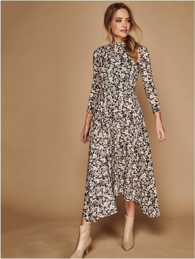 Sonder Studio floral mesh midi dress