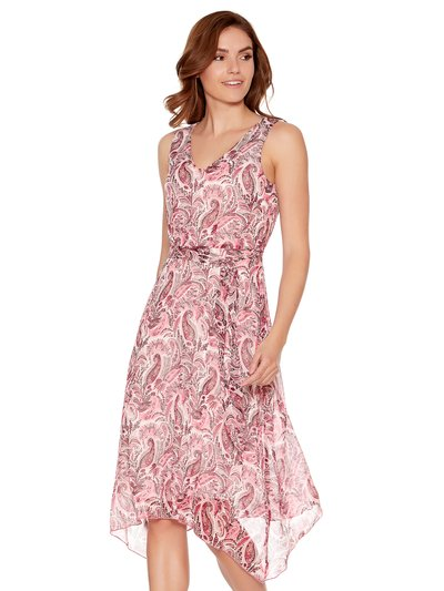 Paisley print hanky hem dress