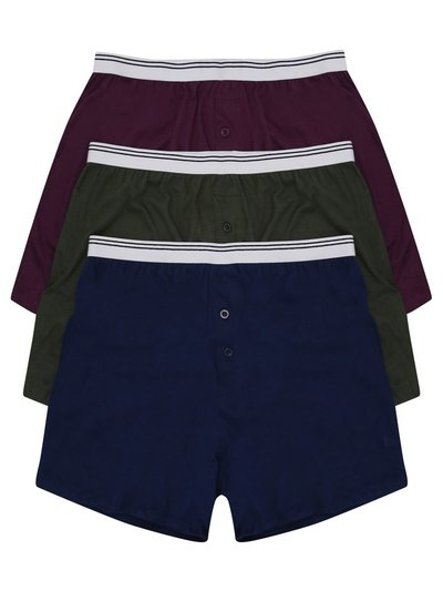 Cotton jersey boxers three pack