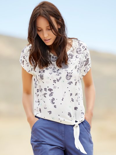 Floral paisley tie side top