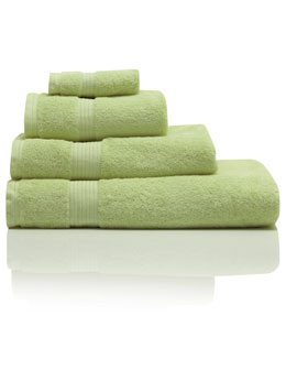 Green Combed Cotton Towels