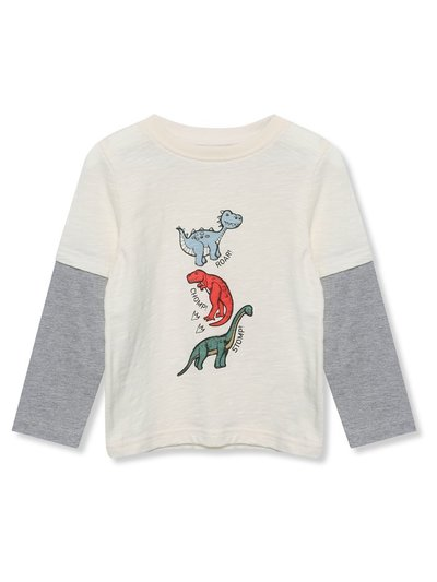 Long sleeve dinosaur t-shirt (9mths-5yrs)