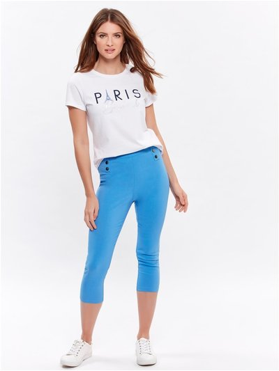 Petite cropped stretch trousers