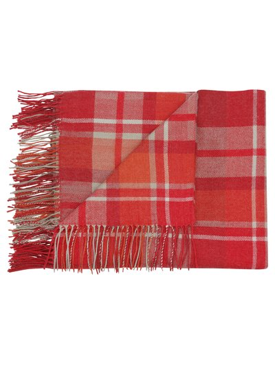 Red tartan check throw