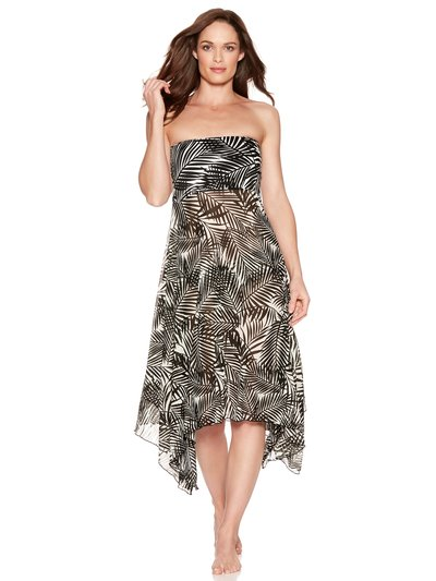 Palm print two in one beach dress