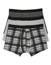 Cotton blend trunks three pack
