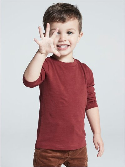 Plain long sleeve t-shirts three pack (9 mths - 5 yrs)