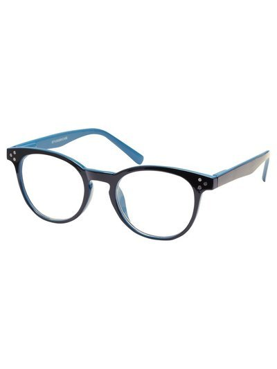 Black and blue reading glasses