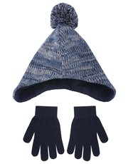 Trapper hat and mitts set