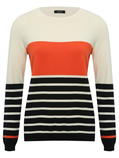 Spirit striped colour block jumper