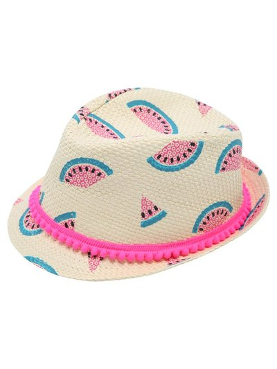 Watermelon trilby hat