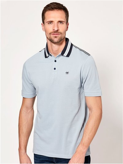 Shoulder stripe polo shirt